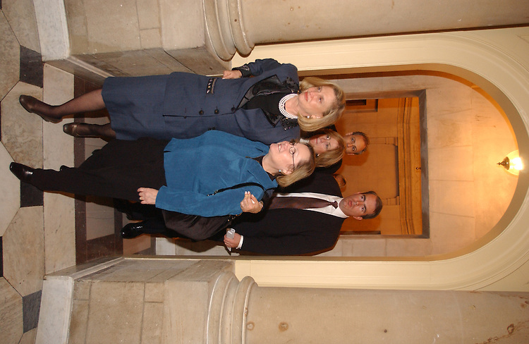 12/06/04.INTELLIGENCE REFORM BILL--Carolyn B. Maloney, D-N.Y., and family member Carol Ashley and other family members exit the offices of House Speaker J. Dennis Hastert, R-Ill., after delivering a petition urging him to schedule a vote on the intelligence reform bill before the imminent end of the 108th Congress..CONGRESSIONAL QUARTERLY PHOTO BY SCOTT J. FERRELL