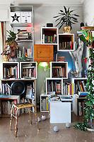 art deco bookcase