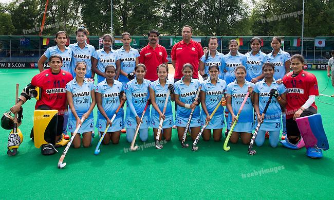 24/06/2015<br /> HWL Semi Final Antwerp Belgium 2015<br /> India v Poland Women<br /> INDIA <br /> Photo: Grant Treeby
