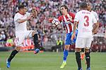 Atletico de Madrid's Antoine Griezmann and Sevilla's Gabriel Mercado during La Liga match between Atletico de Madrid and Sevilla CF at Vicente Calderon Stadium in Madrid, Spain. March 19, 2017. (ALTERPHOTOS/BorjaB.Hojas)