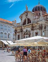 Kroatien; Dalmatien; Dubrovnik: Altstadt - UNESCO Weltkulturerbe - Kirche St. Blasius | Croatia, Dalmatia, Dubrovnik: Old Town - UNESCO world heritage - church of St Blaise