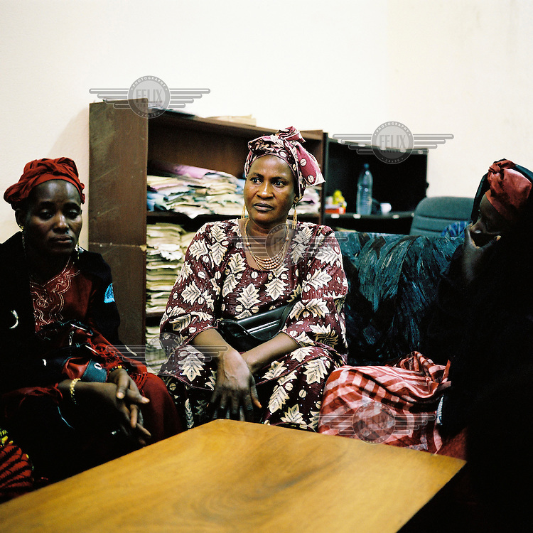 AIDS patients have a meeting with a doctor at the Centre for Treatment, Activities and Counselling for People living with HIV/AIDS (CESAC), which is the main organisation working with AIDS patients in Mali.