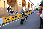 Paul Martens (GER) Team Jumbo-Visma on the San Luca climb during Stage 1 of the 2019 Giro d'Italia, an individual time trial running 8km from Bologna to the Sanctuary of San Luca, Bologna, Italy. 11th May 2019.<br /> Picture: Eoin Clarke | Cyclefile<br /> <br /> All photos usage must carry mandatory copyright credit (© Cyclefile | Eoin Clarke)