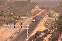 Old RT 66 2008 Railroad activity at Cajon Pass California