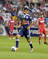 New York defender Rafael Marquez (4) controls the ball.  The Chicago Fire tied the New York Red Bulls 0-0 at Toyota Park in Bridgeview, IL on August 8, 2010