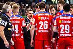 Jens Buerkle (HBW Balingen-Weilstetten C1) ; Lukas Saueressig (HBW Balingen-Weilstetten #26) ; Moritz Strosack (HBW Balingen-Weilstetten #29) ; Marcel Niemeyer (HBW Balingen-Weilstetten #3) beim Spiel in der Handball Bundesliga, TVB 1898 Stuttgart - HBW Balingen-Weilstetten.<br /> <br /> Foto © PIX-Sportfotos *** Foto ist honorarpflichtig! *** Auf Anfrage in hoeherer Qualitaet/Aufloesung. Belegexemplar erbeten. Veroeffentlichung ausschliesslich fuer journalistisch-publizistische Zwecke. For editorial use only.