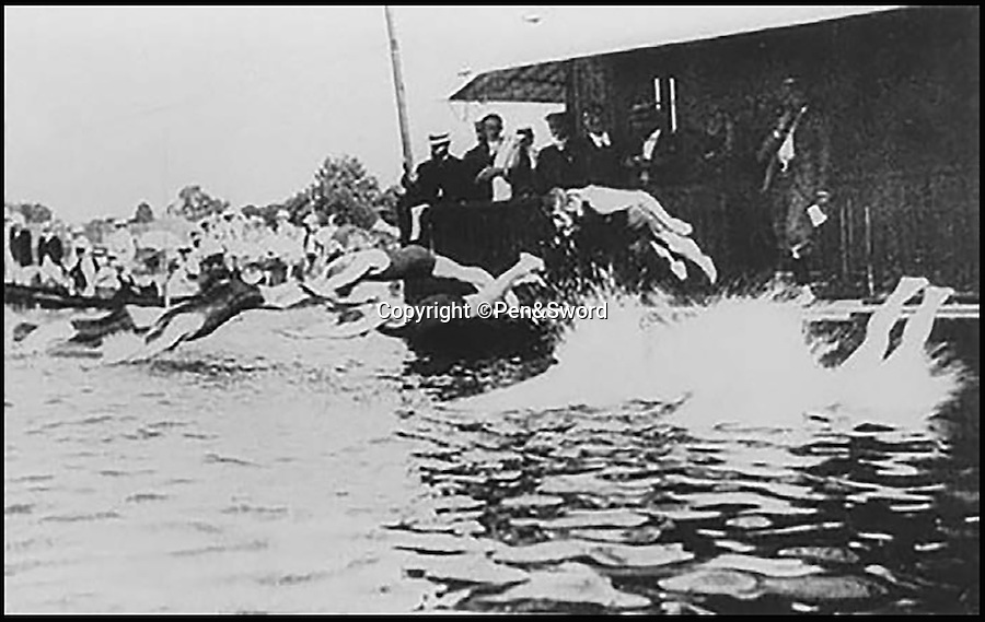 BNPS.co.uk (01202 558833)<br /> Pic: Pen&Sword/BNPS<br /> <br /> Corporal Andre Jules Henri Six was in the 24e Section du COA and won a silver medal for underwater swimming at the 1900 Paris Olympics for France, he died 1 April 1915 aged 26.<br /> <br /> During the First World War no fewer than 135 Olympians perished, including 50 Britons, according to new book, 'The Extinguished Flame'. <br /> <br /> Just as cricketers, footballers and rugby players from the day were called up for duty elite athletes too had to swap their spikes for military garb. <br /> <br /> While rival competitors from across the world should have been competing at the 1916 Olympic Games they were instead fighting on the battlefield.<br /> <br /> The most distinguished of all the Olympian casualties is the most highly decorated British officer of the First World War, Captain Noel Godfrey Chavasse, one of only three men to achieve two VC's.