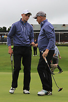 Liam Nolan & Joe Lyons (Galway) on the 18th green during the Final of the AIG Barton Shield in the AIG Cups & Shields Connacht Finals 2019 in Westport Golf Club, Westport, Co. Mayo on Saturday 10th August 2019.<br /> <br /> Picture:  Thos Caffrey / www.golffile.ie<br /> <br /> All photos usage must carry mandatory copyright credit (© Golffile | Thos Caffrey)