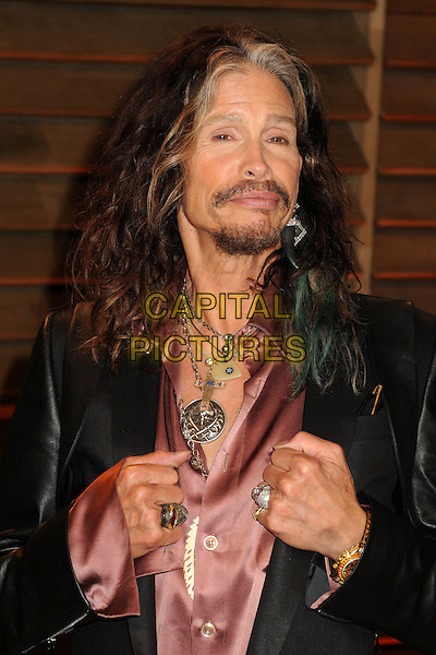 02 March 2014 - West Hollywood, California - Steven Tyler. 2014 Vanity Fair Oscar Party following the 86th Academy Awards held at Sunset Plaza.  <br /> CAP/ADM/BP<br /> &copy;Byron Purvis/AdMedia/Capital Pictures