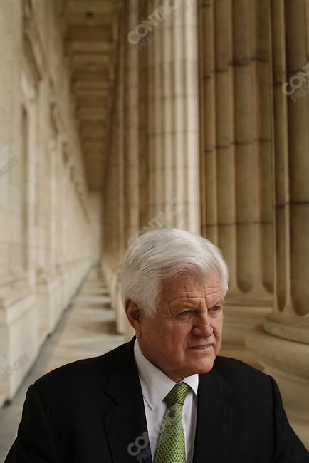 "Senator Edward ""Ted"" Kennedy, on the terrace of his Senate office, Washington D.C., USA, March 17, 2006"