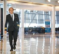 Le dernier vol du commandant Piche d'Air Transat, le 12 octobre 2017.<br /> <br /> <br /> PHOTO : <br /> - Agence Quebec presse