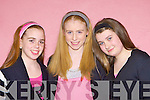 Norma O'Donoghue, Amy Reidy and Carol Lane Cordal who impressed the audience at the YC Factor talent show at Castleisland Community Centre on Saturday night...