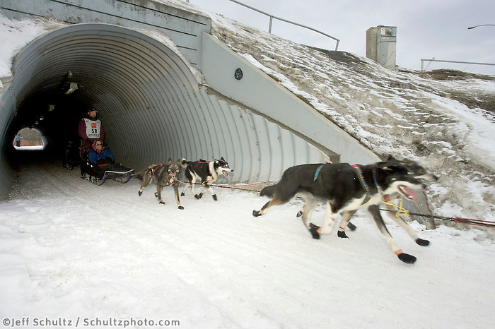 Robert Bundtzen @ Tunnel 2005 Iditarod Ceremonial Start AK Anchorage Mid-Town