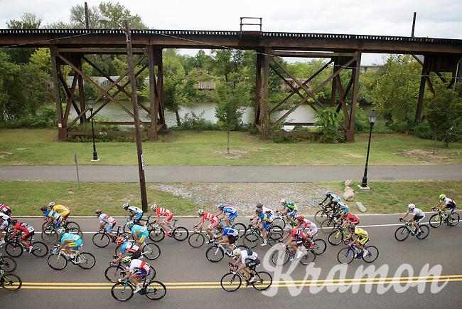 U23 peloton riding the lower parts of Richmond  <br /> <br /> U23 Road Race<br /> UCI Road World Championships Richmond 2015 / USA