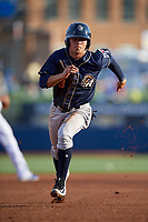 San Antonio Missions second baseman Luis Urias (3) runs the bases during a game against the Tulsa Drillers on June 1, 2017 at ONEOK Field in Tulsa, Oklahoma.  Tulsa defeated San Antonio 5-4 in eleven innings.  (Mike Janes/Four Seam Images)