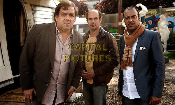Didier Bourdon, Bernard Campan, Pascal Legitimus<br /> in Les trois freres, le retour (2014) <br /> *Filmstill - Editorial Use Only*<br /> CAP/NFS<br /> Image supplied by Capital Pictures