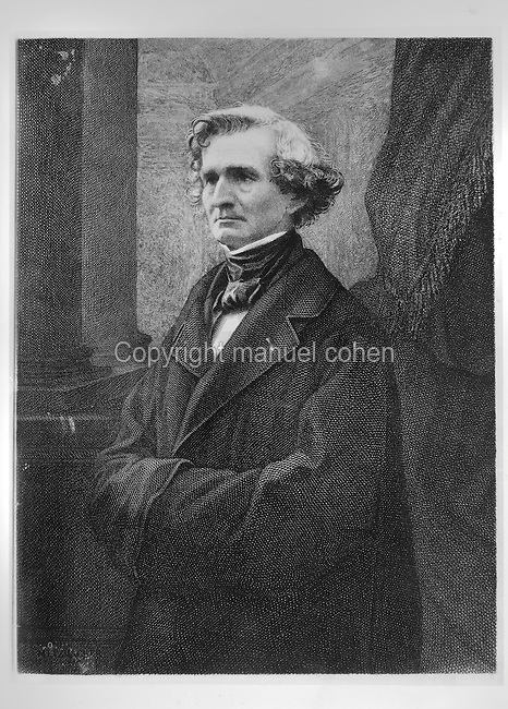 Portrait of Hector Berlioz, 1803-69, French Romantic composer, engraving by Emile Pierre Metzmacher, 1815-90, French engraver, after a photograph by Felix Nadar, 1820-1910, French photographer. Copyright © Collection Particuliere Tropmi / Manuel Cohen