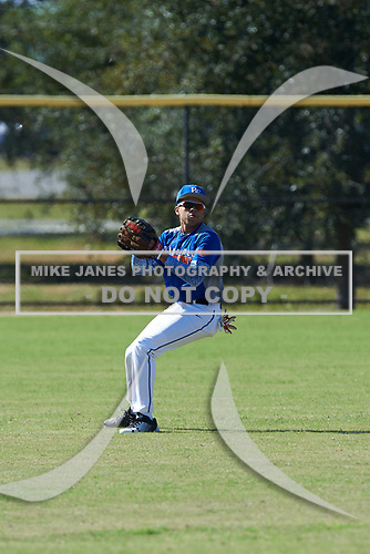 Jovani Wiggs (10) of Latham, New York during the Baseball Factory All-America Pre-Season Rookie Tournament, powered by Under Armour, on January 14, 2018 at Lake Myrtle Sports Complex in Auburndale, Florida.  (Michael Johnson/Four Seam Images)