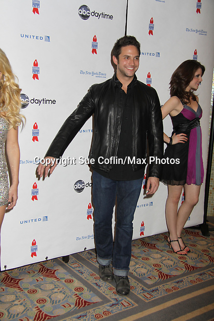 General Hospital Brandon Barash at ABC Daytime Salutes Broadway Cares/Equity Fights Aids - The Grand Finale Celebration on March 13, 2011 with a musical show at Town Hall, New York City, New York followed by an after party at the New York Marriott Marquis. (Photo by Sue Coflin/Max Photos)