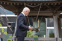 NEW YORK CITY, UNITED STATES SEPTEMBER 16, 2016: Peter Thomson, President of the seventy-first session of the General Assembly, rings the Peace Bell at the annual ceremony held at UN headquarters in commemoration of the International Day of Peace. Photo by VIEWpress/Maite H. Mateo