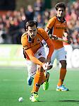 BLOEMENDAAL - Niek van der Schoot van OZ  tijdens  de finale van de EHL tussen de mannen van Oranje Zwart en UHC Hamburg . OZ wint na shoot outs. COPYRIGHT KOEN SUYK