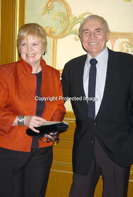 Gillian Spencer and James Mitchell ..at The 57th Annual  Writers Guild Awards on February 19, 2005 at The Pierre Hotel in New York City. Claire Labine got ..an award and  Guiding Light won for Best Soap Opera. ..Photo by Robin Platzer, Twin Images.