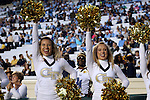 18 October 2014: Georgia Tech cheerleaders. The University of North Carolina Tar Heels hosted the Georgia Tech Yellow Jackets at Kenan Memorial Stadium in Chapel Hill, North Carolina in a 2014 NCAA Division I College Football game. UNC won the game 48-43.