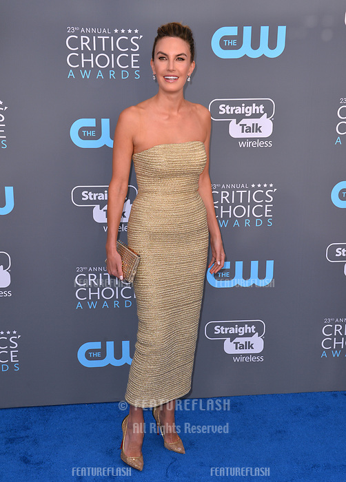 Elizabeth Chambers at the 23rd Annual Critics' Choice Awards at Barker Hangar, Santa Monica, USA 11 Jan. 2018<br /> Picture: Paul Smith/Featureflash/SilverHub 0208 004 5359 sales@silverhubmedia.com
