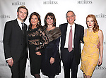 Dan Stevens, Paula Wagner, guest, Roy Furman & Jessica Chastain attending the Broadway Opening Night After Party for 'The Heiress' at The Edison Ballroom on 11/01/2012 in New York.