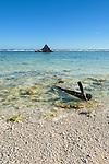 The remnants of a Korean shipwreck off the island of Kiritimati, Kiribati