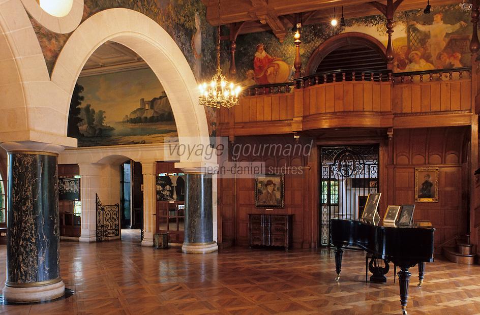Europe/France/Aquitaine/64/Pyrénées-Atlantiques/Cambo-Les-Bains: Villa Arnaga - La demeure Edmond Rostang - le grand salon