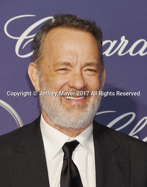 PALM SPRINGS, CA - JANUARY 02: Actor Tom Hanks attends the 28th Annual Palm Springs International Film Festival Film Awards Gala at the Palm Springs Convention Center on January 2, 2017 in Palm Springs, California.