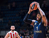 22nd March 2018, Aleksandar Nikolic Hall, Belgrade, Serbia; Turkish Airlines Euroleague Basketball, Crvena Zvezda mts Belgrade versus Fenerbahce Dogus Istanbul; Center Jason Thompson of Fenerbahce Dogus Istanbul in action with the ball