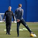 19.04.2019 Rangers training: Mark Allen and Steven Gerrard