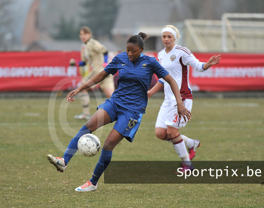 France U19 - Russia U19 : Kadidiatou Diani has the ball .foto DAVID CATRY / Nikonpro.be