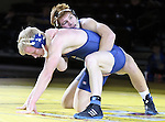 SIOUX FALLS, SD: DECEMBER 8: Joe Brewster from South Dakota State battles with Garret Heiberger from Augustana in their 165 pound match Sunday afternoon at the Sanford Pentagon. (photo by Dave Eggen/Inertia)