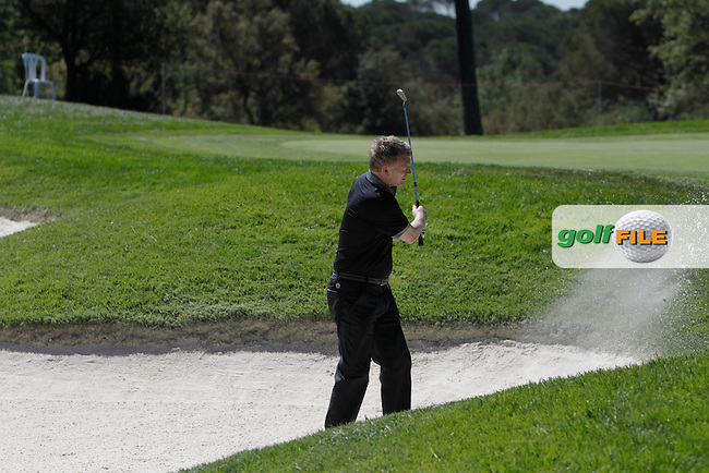 David Moyes (AM) on the 10th in the Pro-Am during The Open De Espana at The PGA Catalunya Resort on Wednesday 14th May 2014.<br /> Picture:  Thos Caffrey / www.golffile.ie