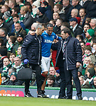 Bruno Alves limps off
