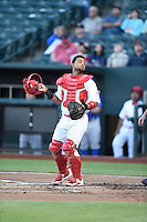 ***Temporary Unedited Reference File***Memphis Redbirds catcher Alberto Rosario (37) during a game against the Omaha Storm Chasers on May 5, 2016 at AutoZone Park in Memphis, Tennessee.  Omaha defeated Memphis 5-3.  (Mike Janes/Four Seam Images)