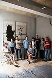 RUSSIA, Moscow. Portrait of staff, editors, writers at Snob Magazine Office in the old Red October Chocolate Factory.