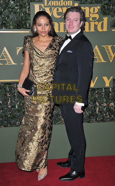 Emma McQuiston &amp; Ceawlin Thynn, Viscountess &amp; Viscount of Weymouth attend the London Evening Standard Theatre Awards 2015, The Old Vic, The Cut, London, England, UK, on Sunday 22 November 2015.<br /> CAP/CAN<br /> &copy;CAN/Capital Pictures