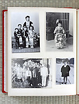 open page of a family photo album Japan Asia 1930s through 1950s