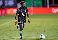 17th July 2020, Orlando, Florida, USA;  Minnesota United defender Romain Metanire (19)  looks to pass the ball during the MLS Is Back Tournament between the Real Salt Lake versus Minnesota United FC on July 17, 2020 at the ESPN Wide World of Sports, Orlando FL.