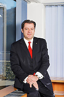 Interview mit Marco J. Netzer, VR-Praesident Banque Cramer & Cie und Praesident des Verwaltungsrats des AHV-Ausgleichsfonds im Hauptsitz an der Riva Caccia 1, in Lugano 20. Januar 2011..Copyright © Zvonimir Pisonic
