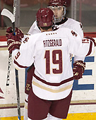 Ryan Fitzgerald (BC - 19), Austin Cangelosi (BC - 9) - The visiting Merrimack College Warriors defeated the Boston College Eagles 6 - 3 (EN) on Friday, February 10, 2017, at Kelley Rink in Conte Forum in Chestnut Hill, Massachusetts.