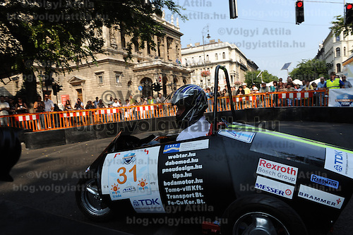 Energy Race for alternative powered cars in Budapest, Hungary on September 18, 2011. ATTILA VOLGYI