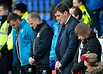St Johnstone v Hamilton Accies&hellip;10.11.18&hellip;   McDiarmid Park    SPFL<br />Saints manager Tommy Wright observing the minutes silence<br />Picture by Graeme Hart. <br />Copyright Perthshire Picture Agency<br />Tel: 01738 623350  Mobile: 07990 594431
