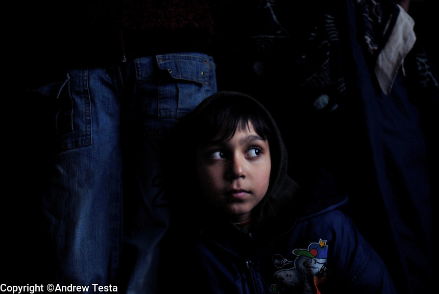 KOSOVO. Mitrovica.28th January 2006..A young Roma boy recently deported from Germany and now forced to live in one of the UN run camps in Mitrovica that are contaminated with Lead..©Andrew Testa for the New York Times