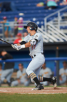 West Virginia Black Bears left fielder Hunter Owen (37) at bat during a game against the Batavia Muckdogs on August 21, 2016 at Dwyer Stadium in Batavia, New York.  West Virginia defeated Batavia 6-5.  (Mike Janes/Four Seam Images)