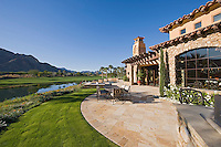 View of golf course from luxury home